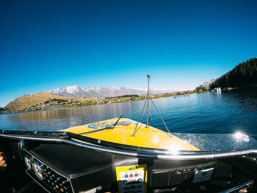 Jet boating on Lake Wakatipu