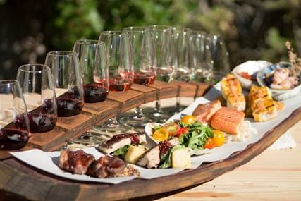 Wine, food, Jet boat