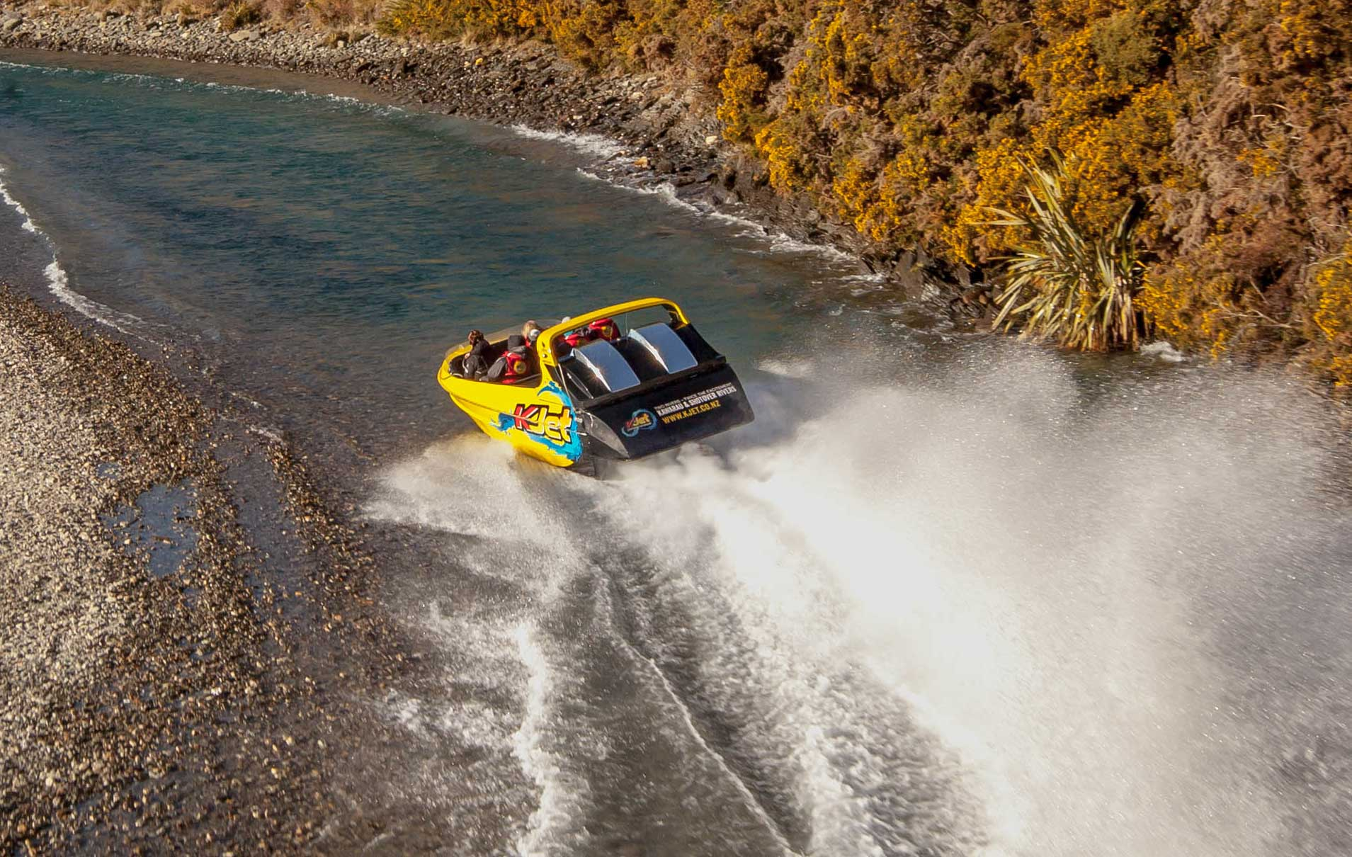 Jet boating with the world's-first Jet Boat company KJet.