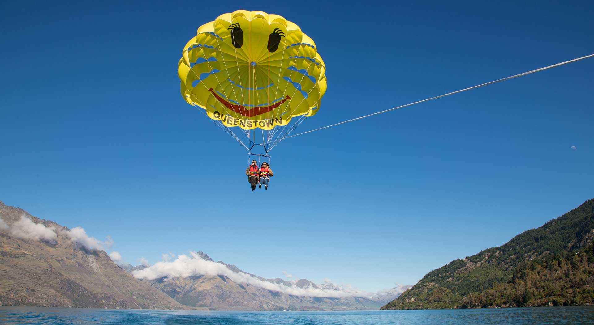 Jet boating and Parasailing in Queenstown