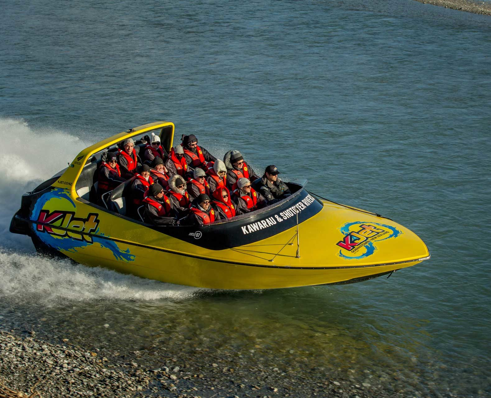 Customers on Jet boat