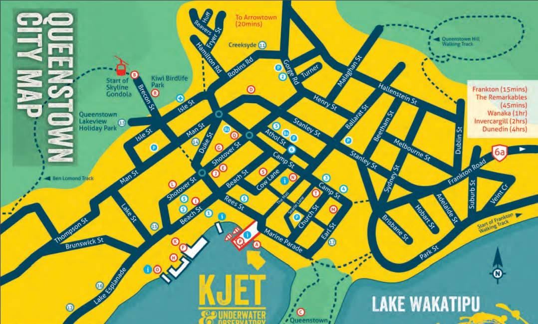 KJet Queenstown CIty Map